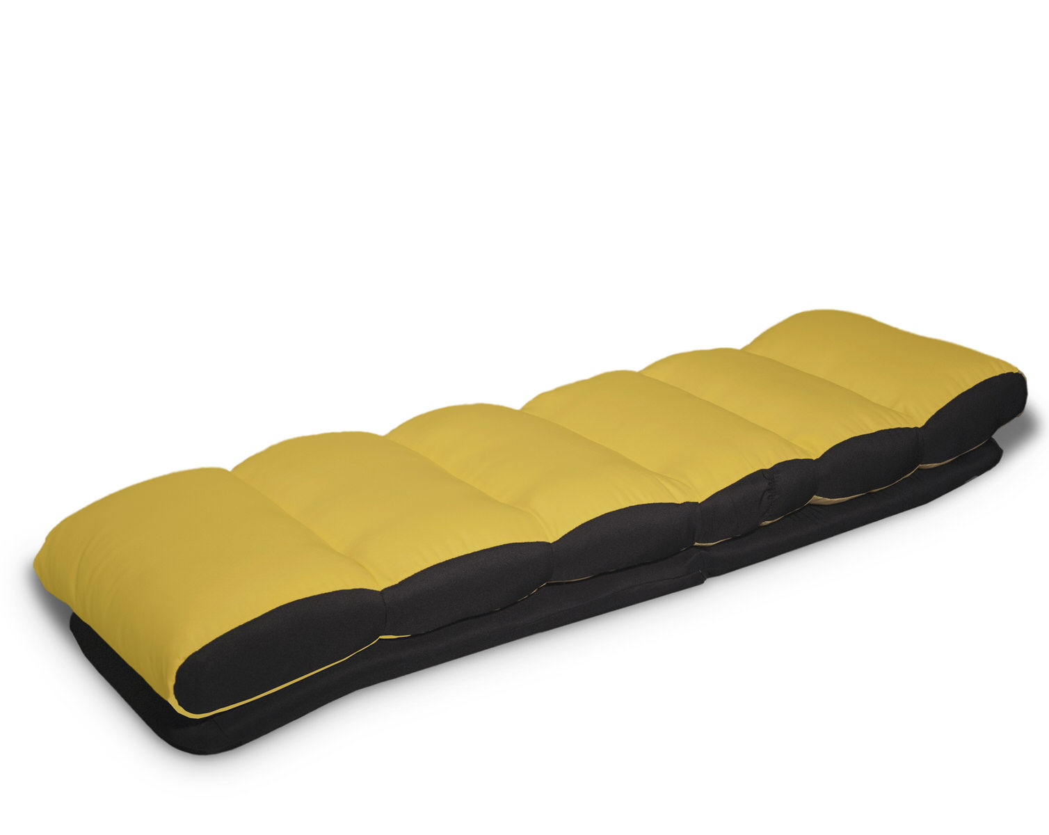 Turbo Lounger Convertible Chair Bed Yellow by Serta Lifestyle