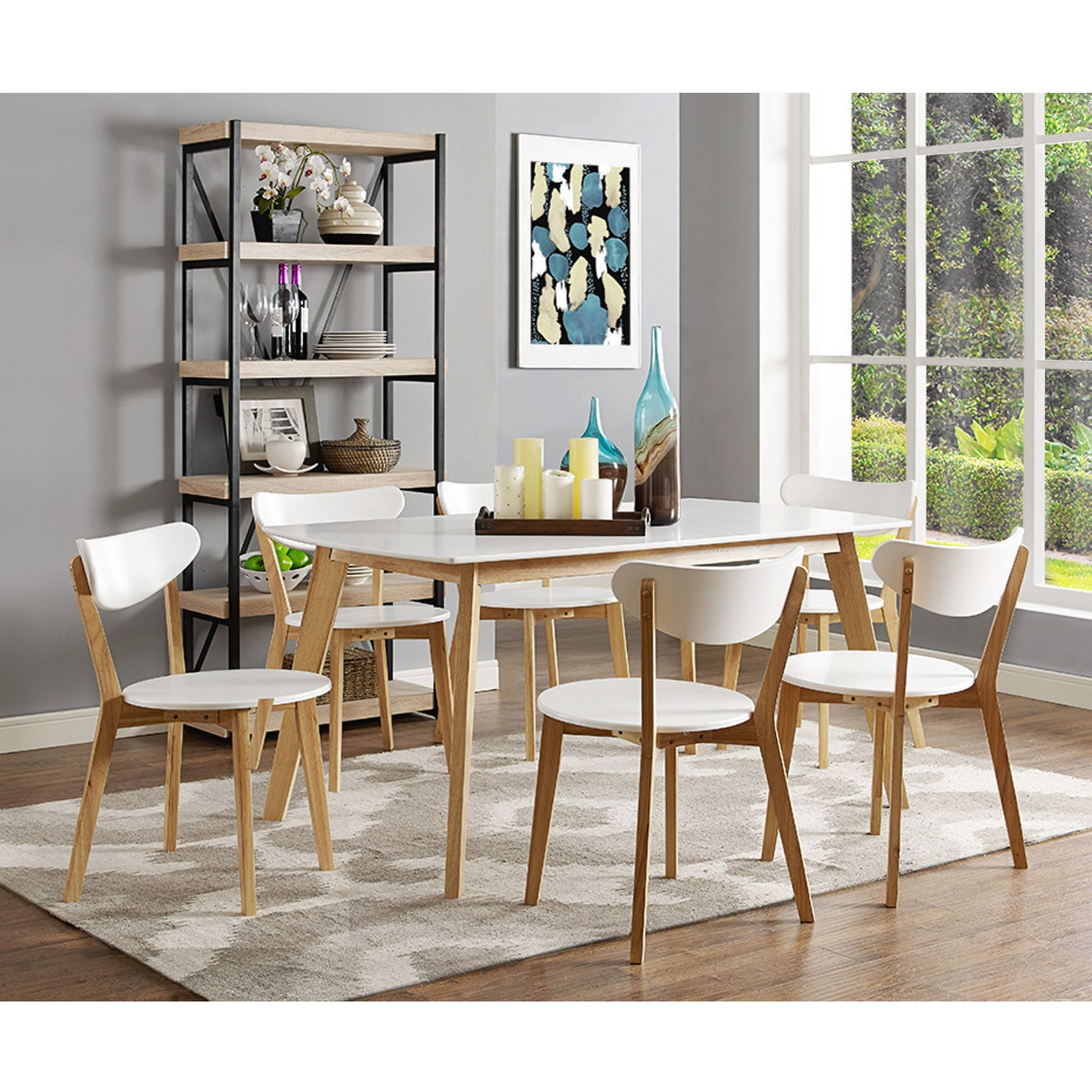 60 Inch Retro Modern Wood Dining Table by Walker Edison
