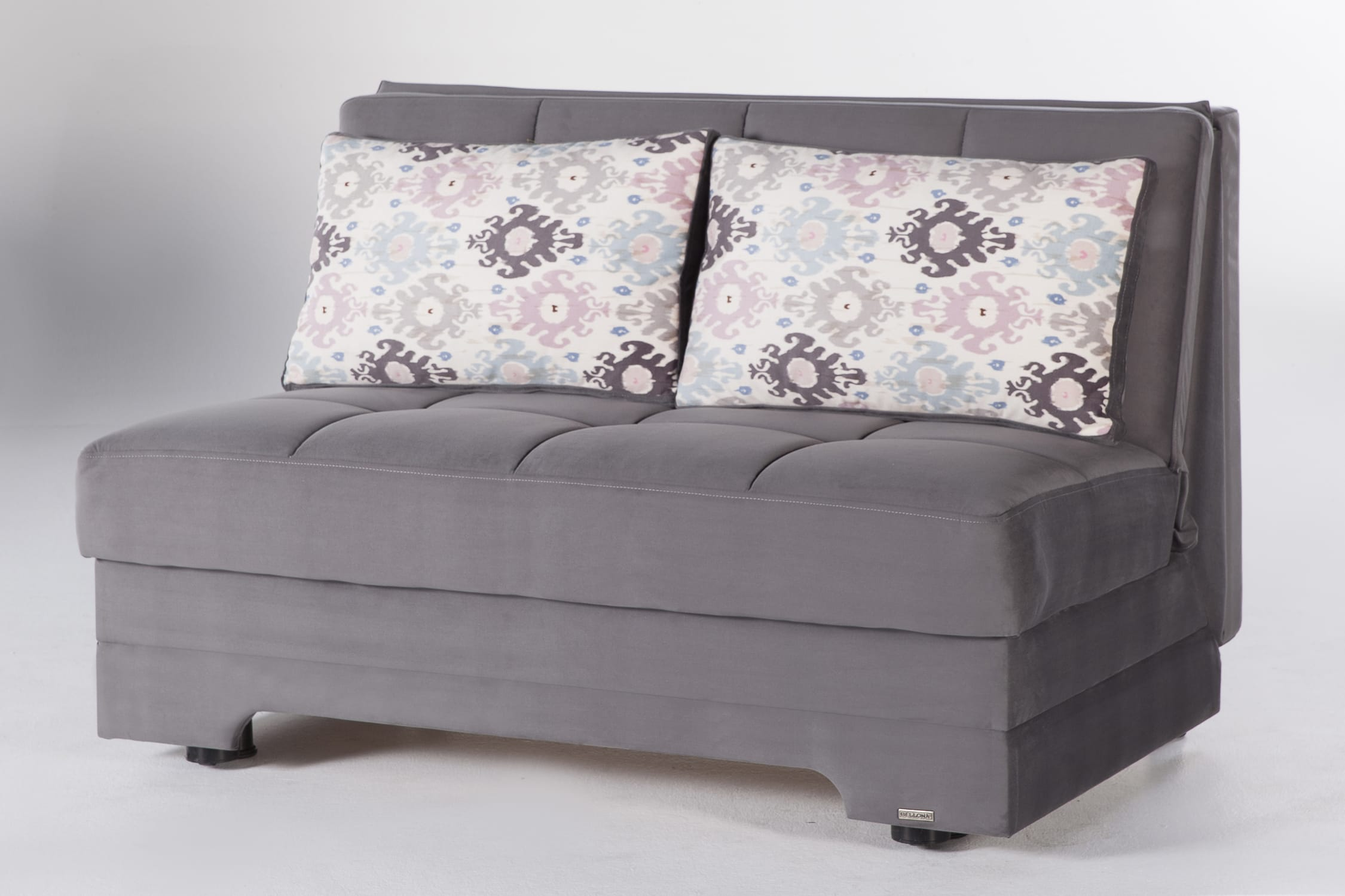 Twist Pure Gray Loveseat Sleeper By Istikbal Sunset