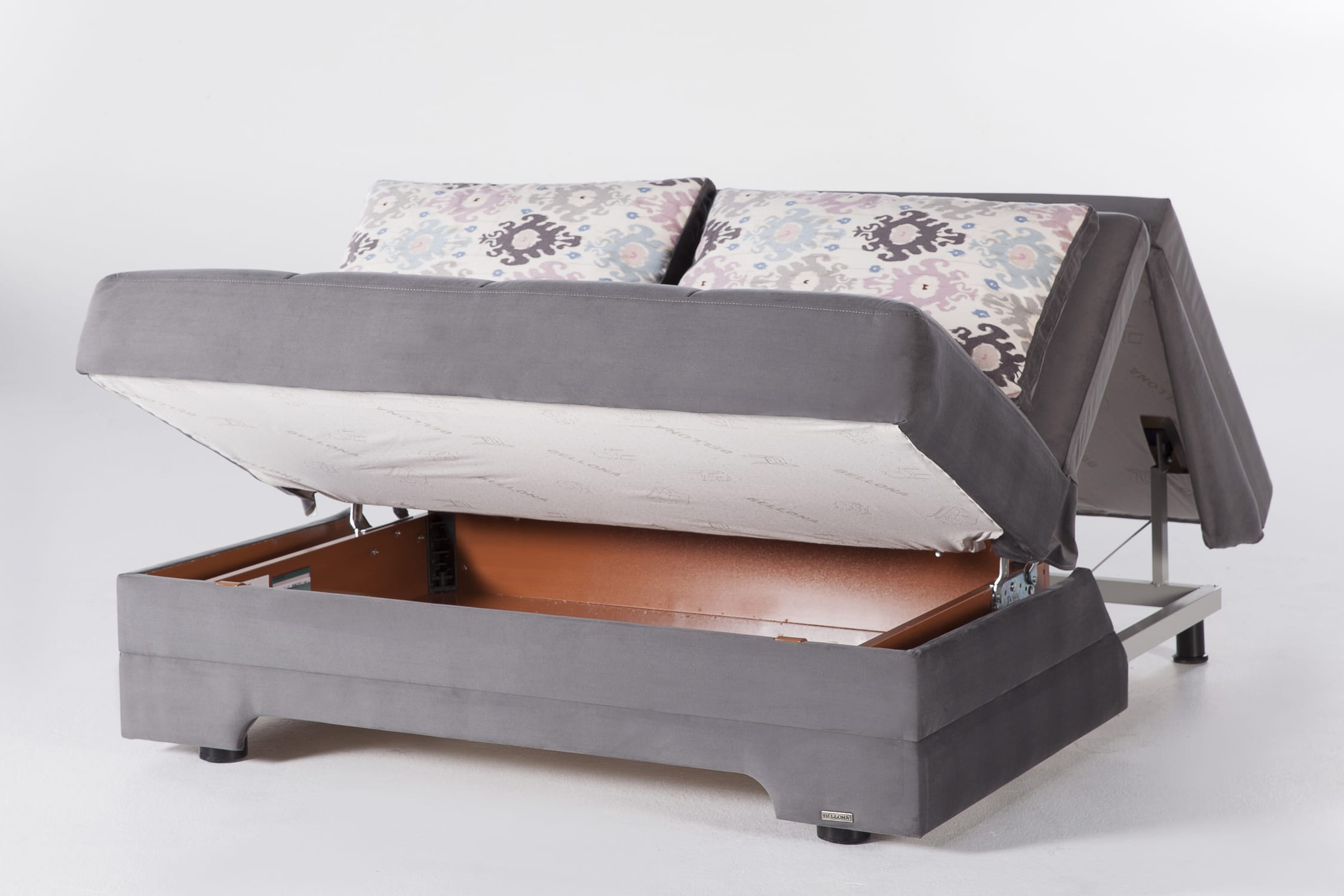 Twist Pure Gray Loveseat Sleeper By Istikbal Furniture