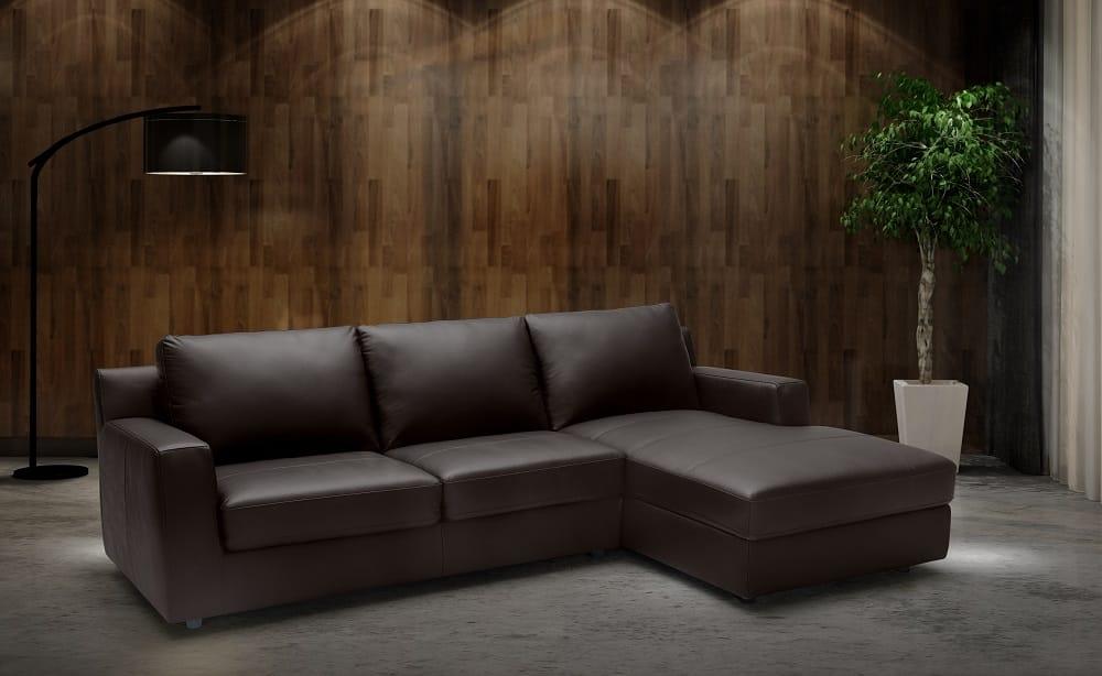 Italian Leather Sectional Sleeper