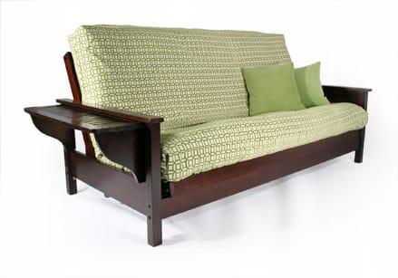 official photos 07afa 1c23d Tiro Dark Cherry Twin Chair Wall Hugger Futon Frame by Strata Furniture