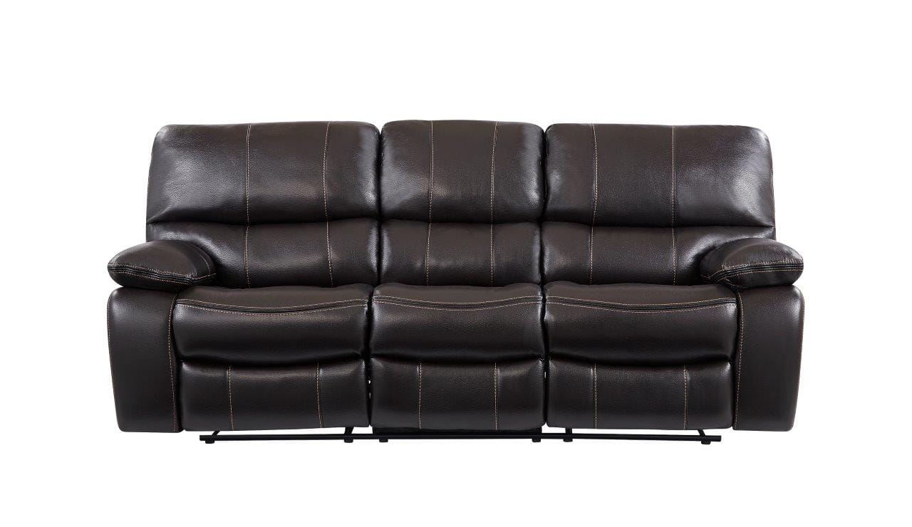 Awe Inspiring U0040 Agnes Espresso Leather Gel Reclining Sofa By Global Furniture Pdpeps Interior Chair Design Pdpepsorg