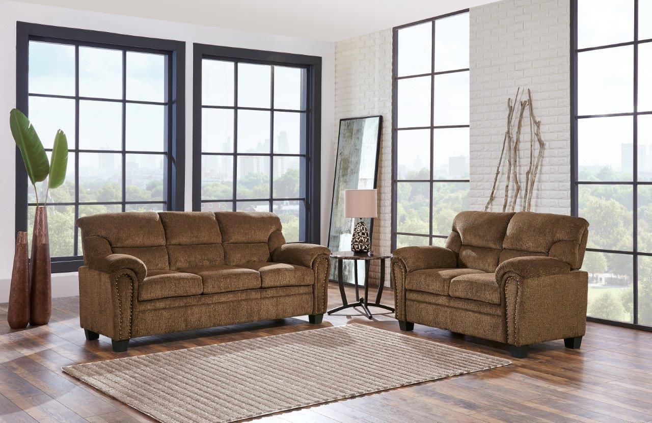 U1058kd Jasmine Tobacco Fabric Sofa By Global Furniture