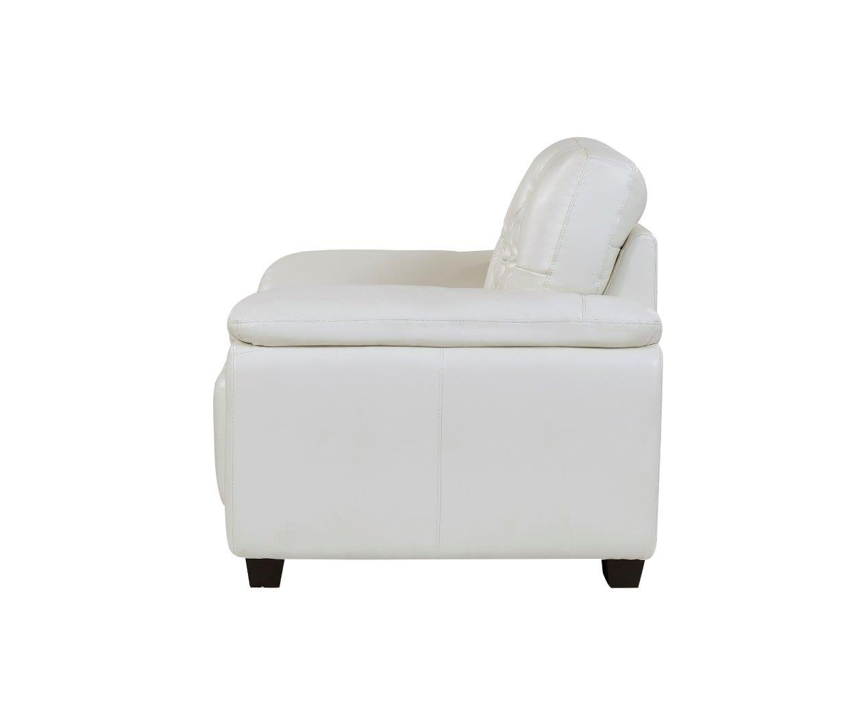 u1066 pluto white leather chair by global furniture
