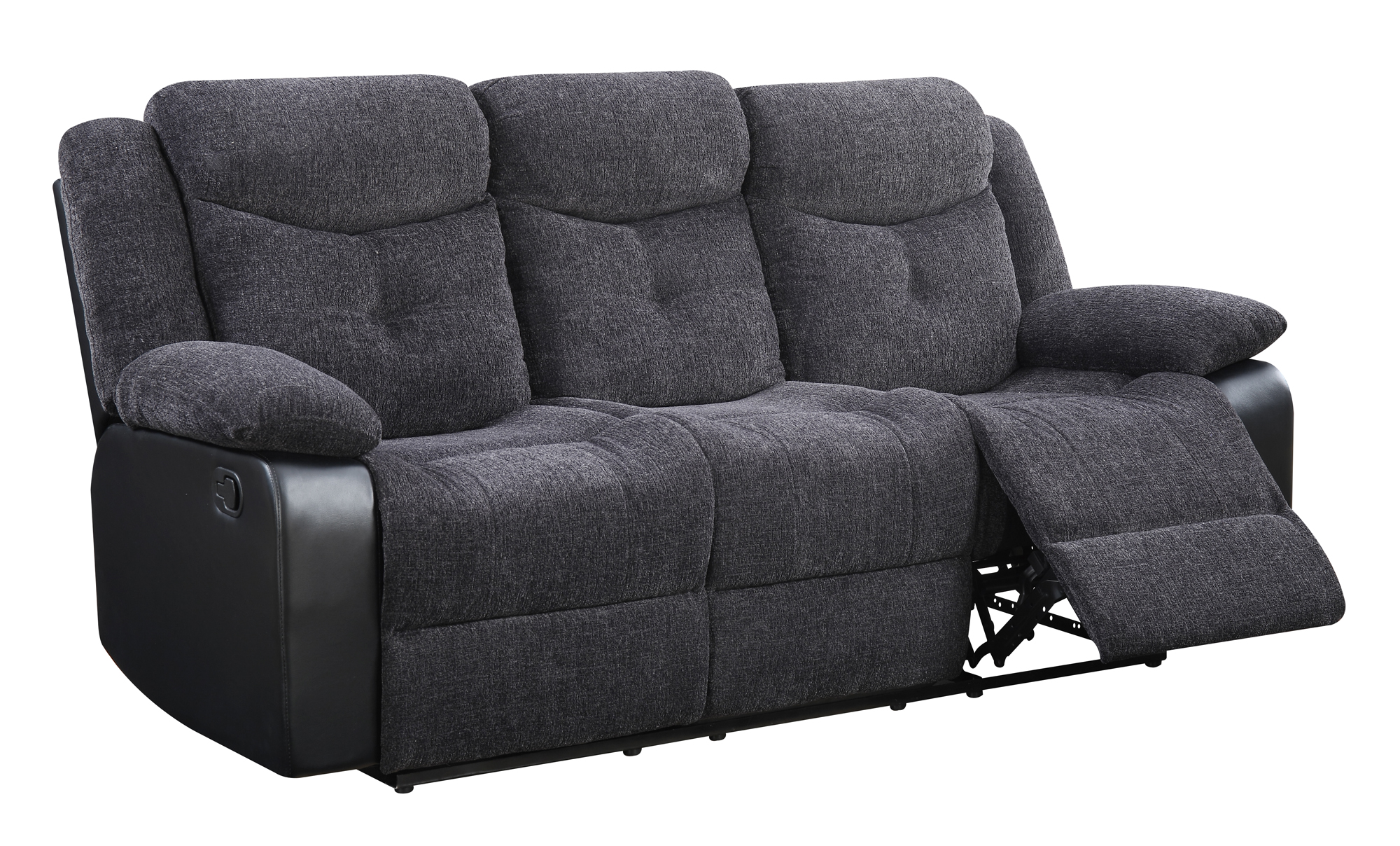 U1566 Mouse Fabric Reclining Sofa by Global Furniture