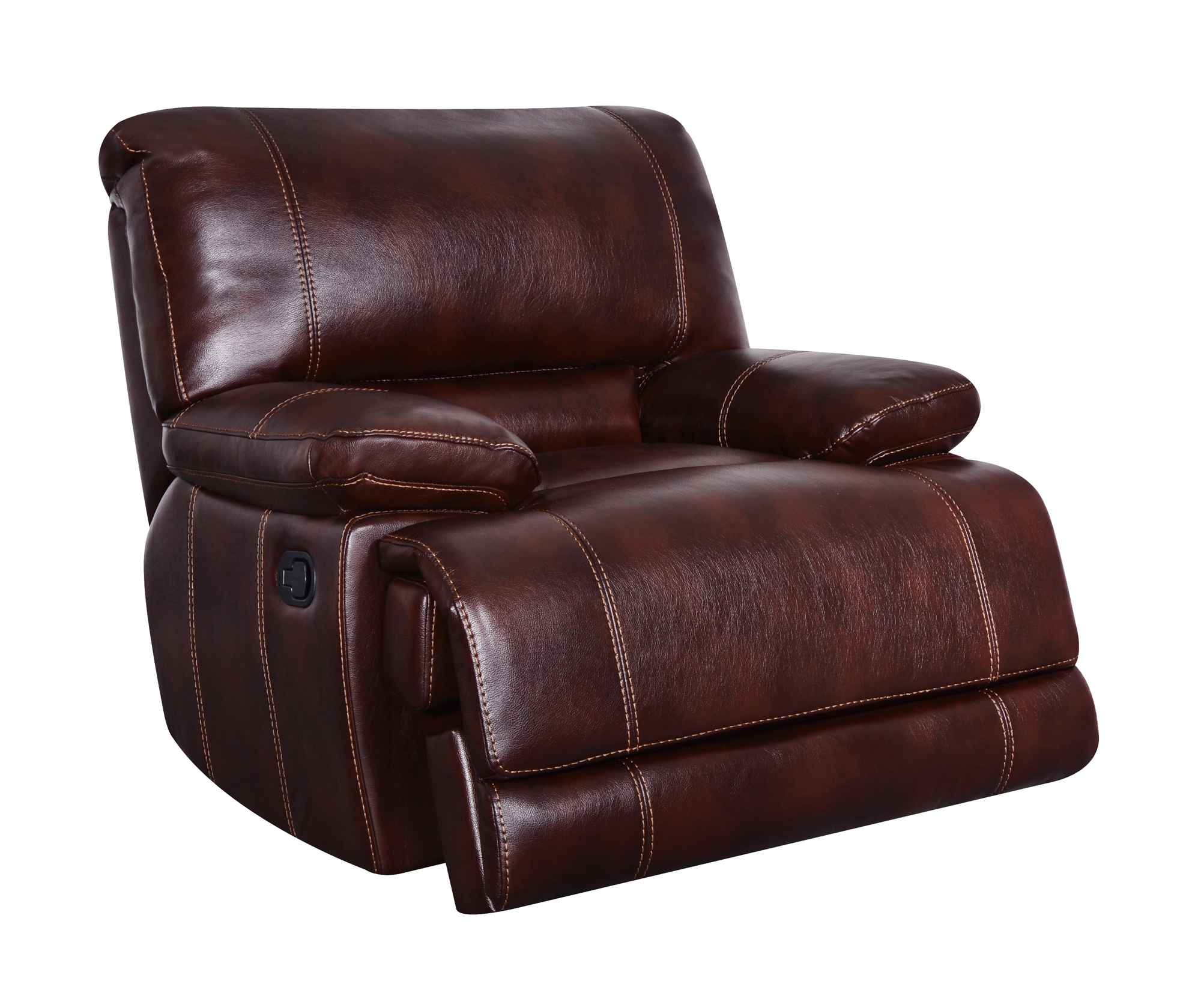 U1953 Coffee Leather Gel Glider Reclining Chair By Global Furniture