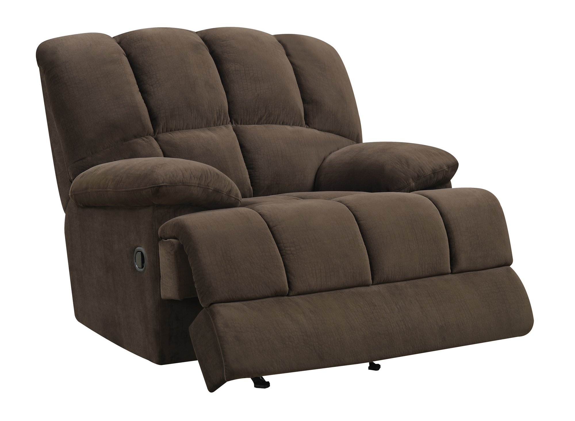 U201 Chocolate Fabric Glider Recliner Chair By Global