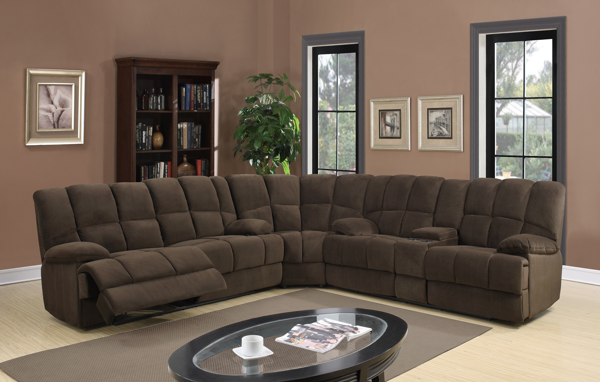 U201 chocolate fabric sectional sofa by global furniture for Sectional sofa names