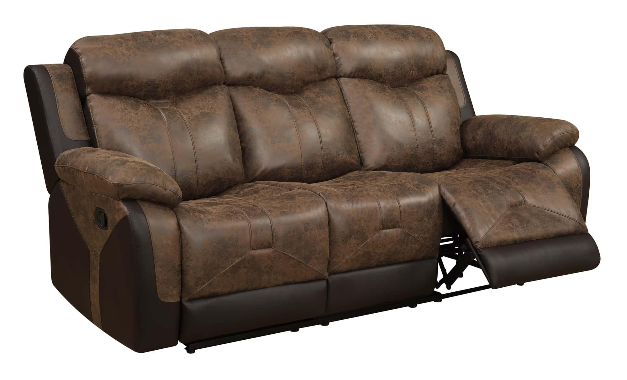 u2015 chocolate vinyl reclining sofa by global furniture. Black Bedroom Furniture Sets. Home Design Ideas