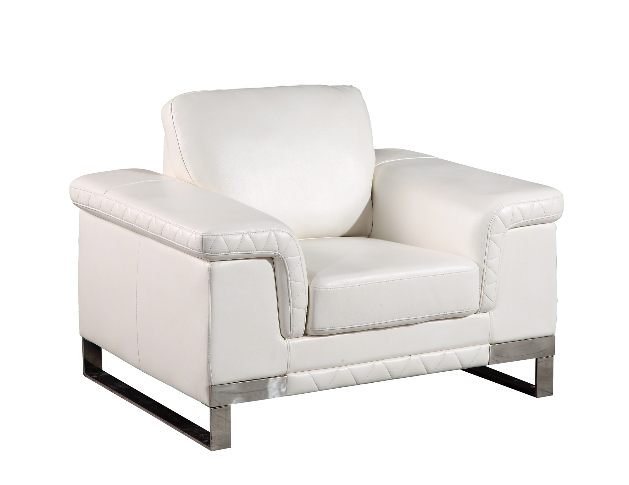 U7660 white leather gel chair by global furniture for White leather sofa and chair