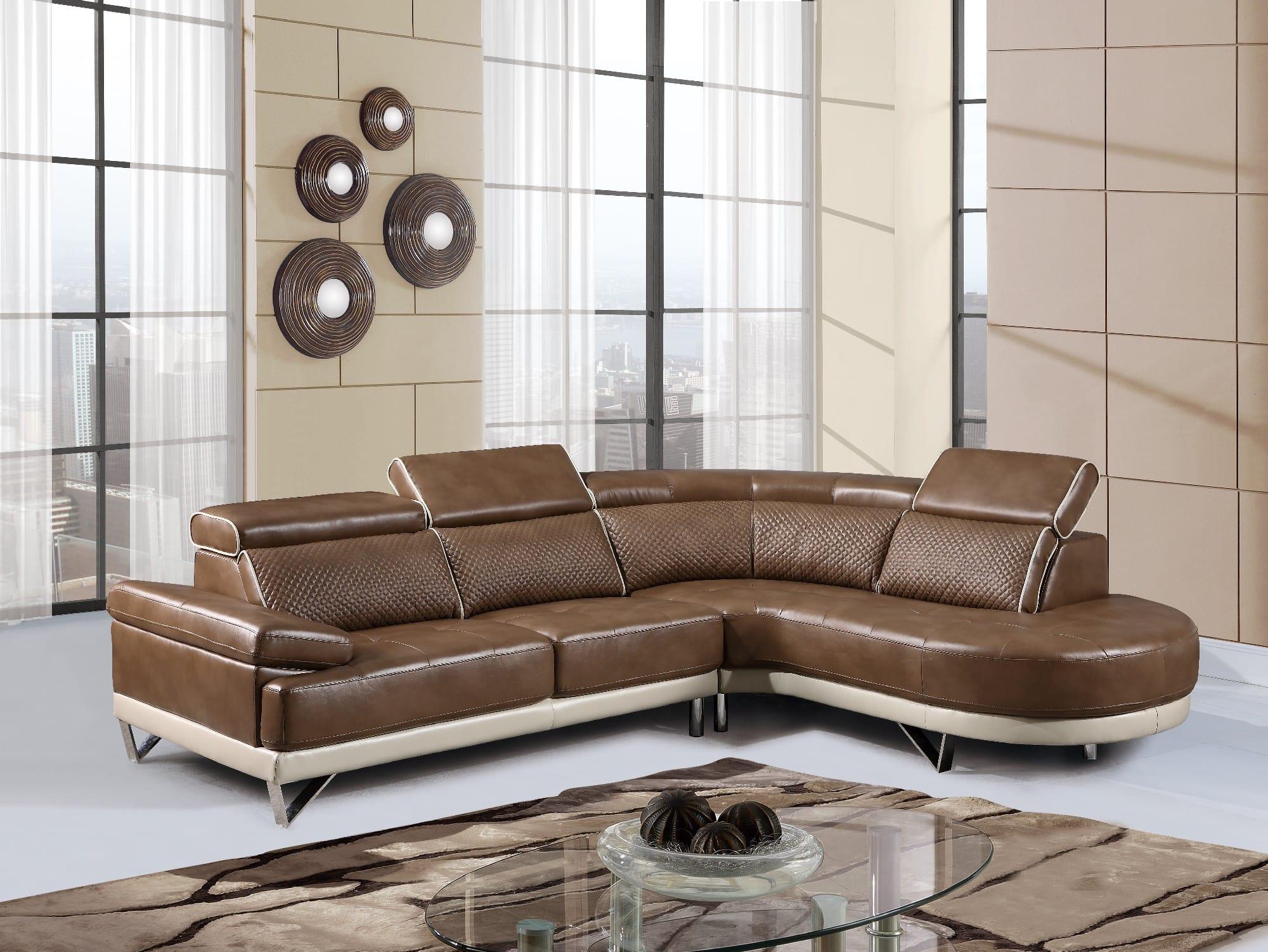 u7730 walnut pearl sectional sofa by global furniture On global furniture