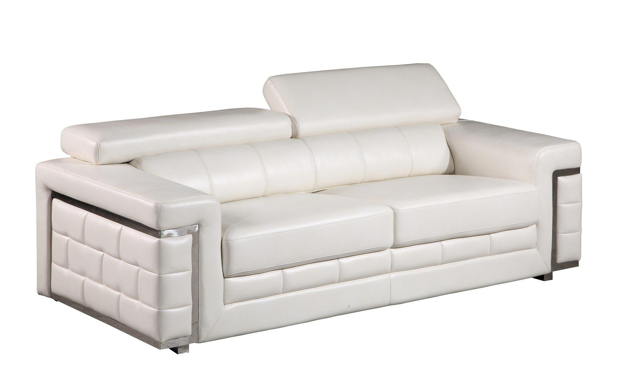 u7940 white leather gel sofa by global furniture. Black Bedroom Furniture Sets. Home Design Ideas