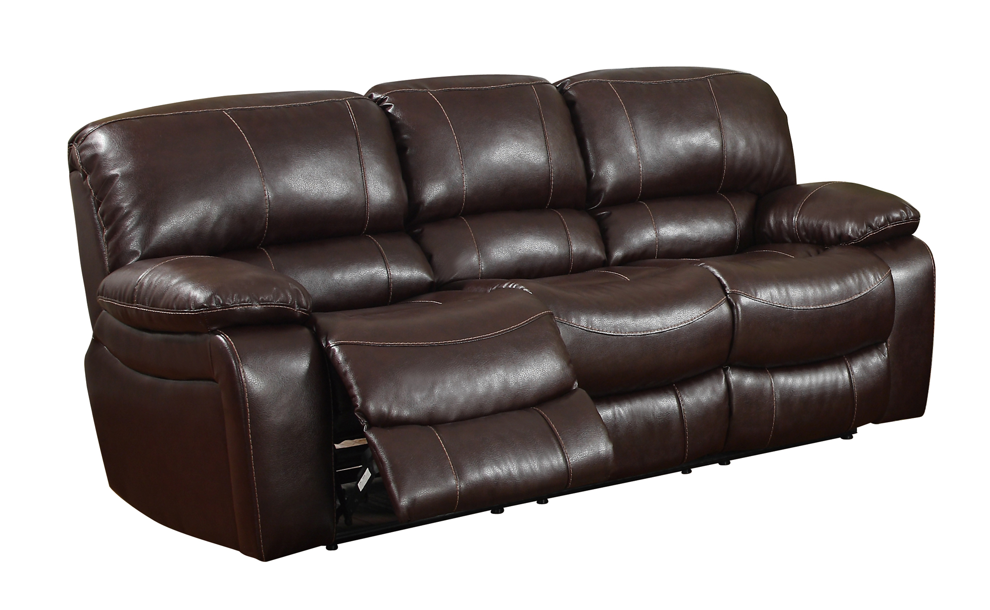 U8122 Burgundy Bonded Reclining Sofa by Global Furniture