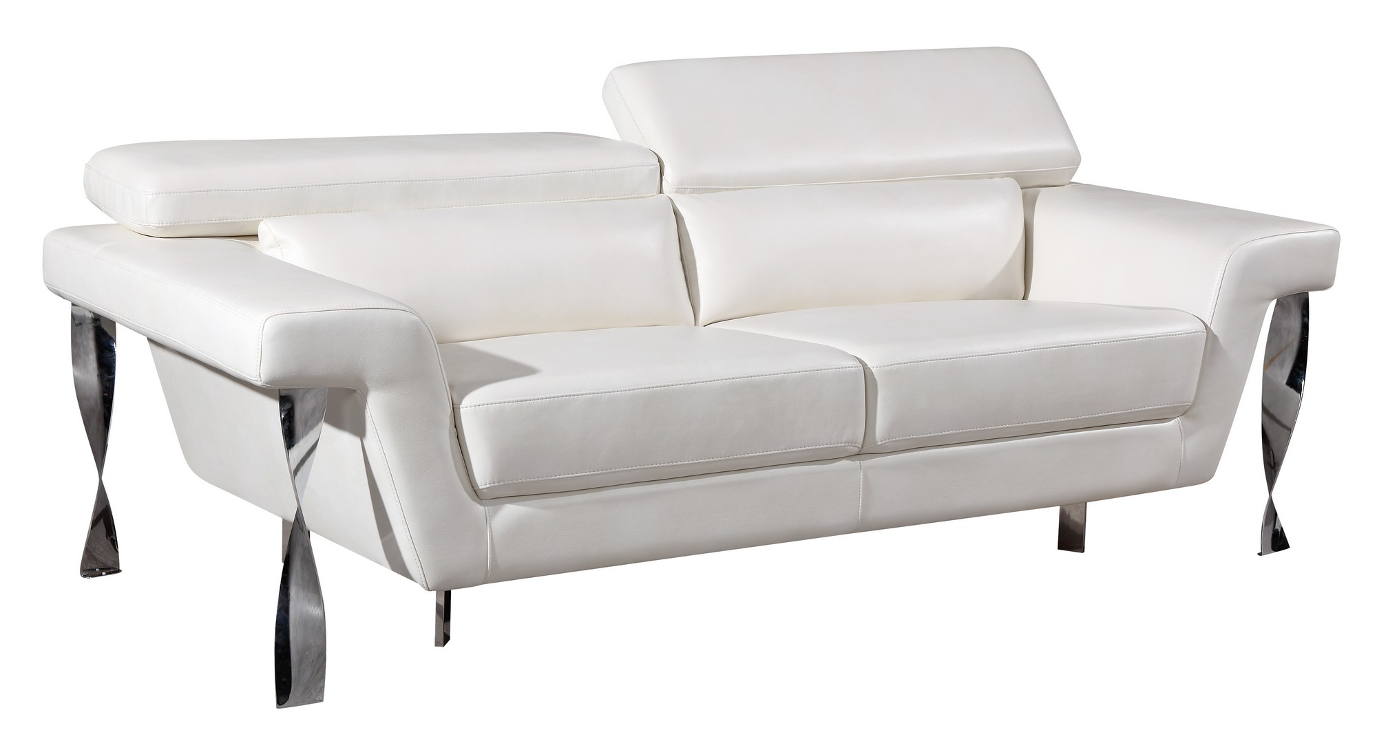 U8180 white leather gel sofa by global furniture for White leather sofa and chair