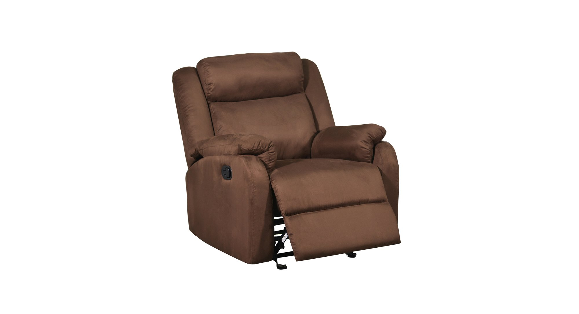 U8303 Chocolate Fabric Glider Reclining Chair by Global