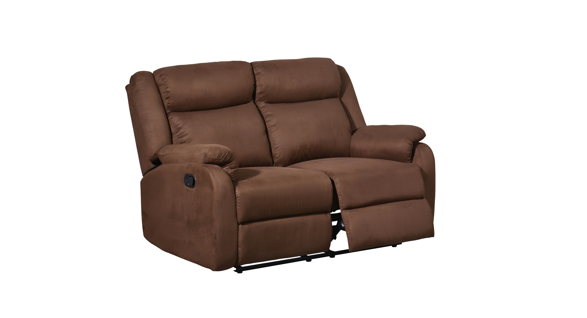 U8303 Chocolate Fabric Reclining Loveseat By Global Furniture