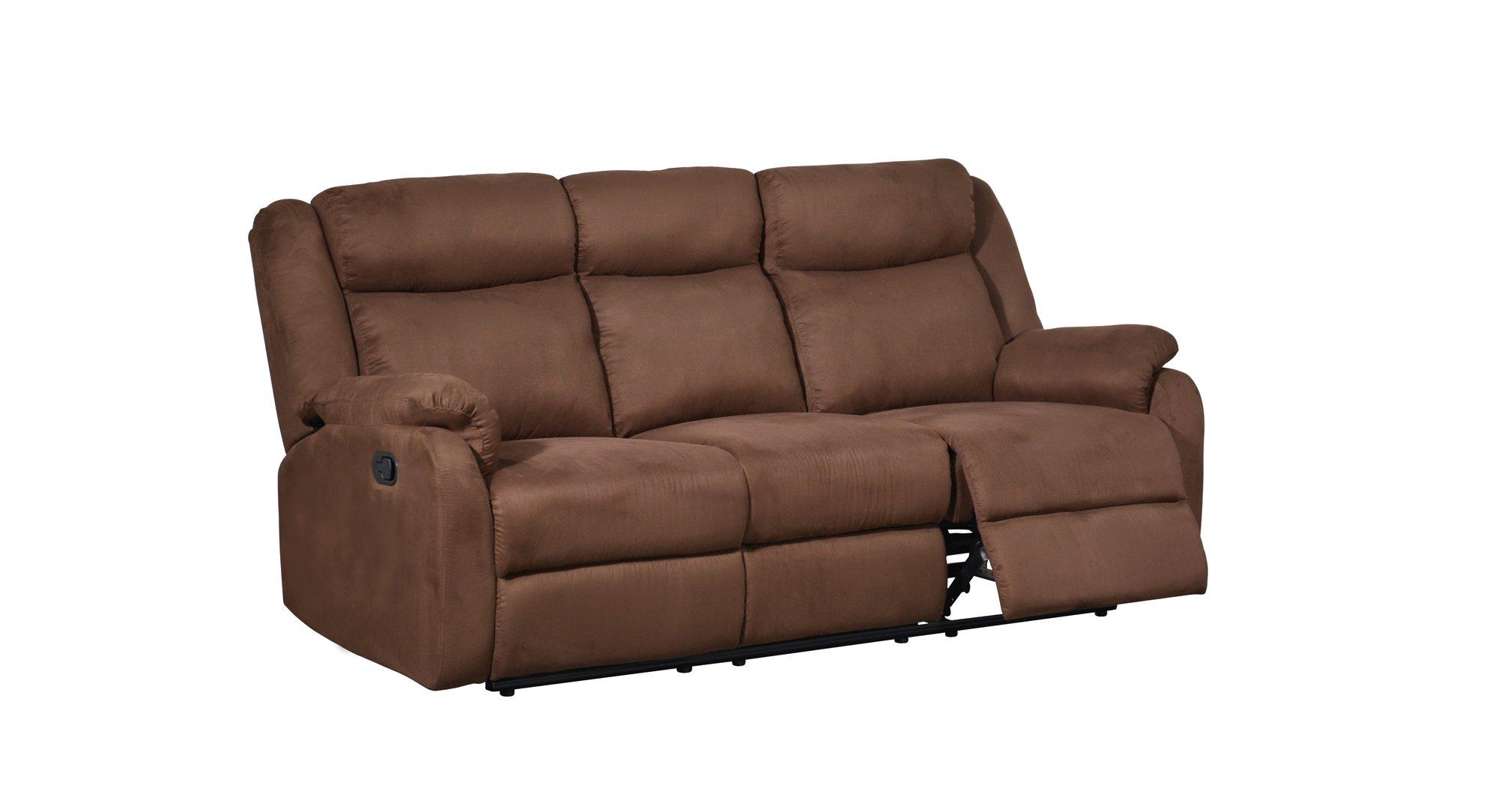 u8303 chocolate fabric reclining sofa by global furniture. Black Bedroom Furniture Sets. Home Design Ideas