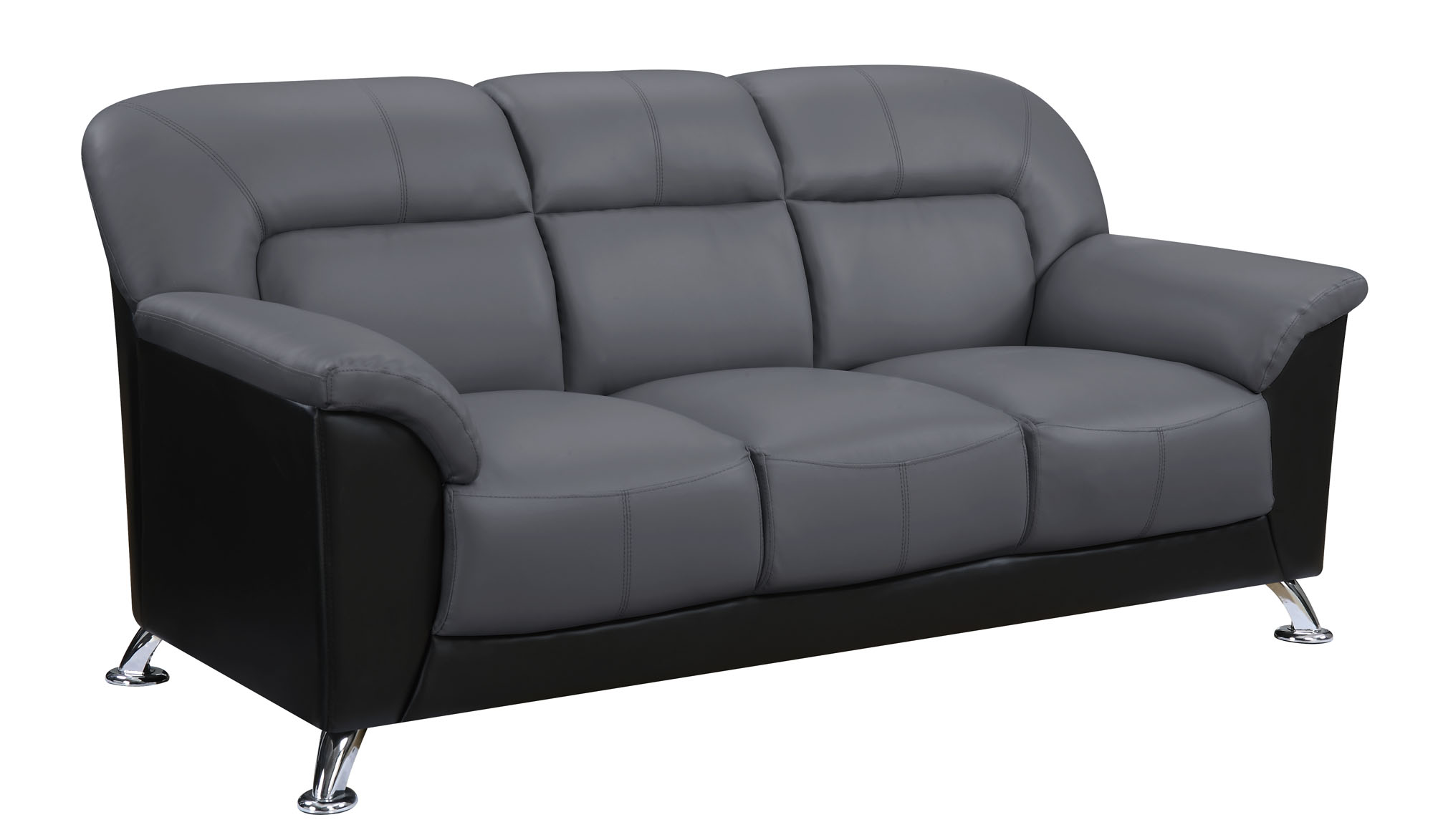 Sensational U9102 Dark Grey Black Vinyl Sofa By Global Furniture Dailytribune Chair Design For Home Dailytribuneorg