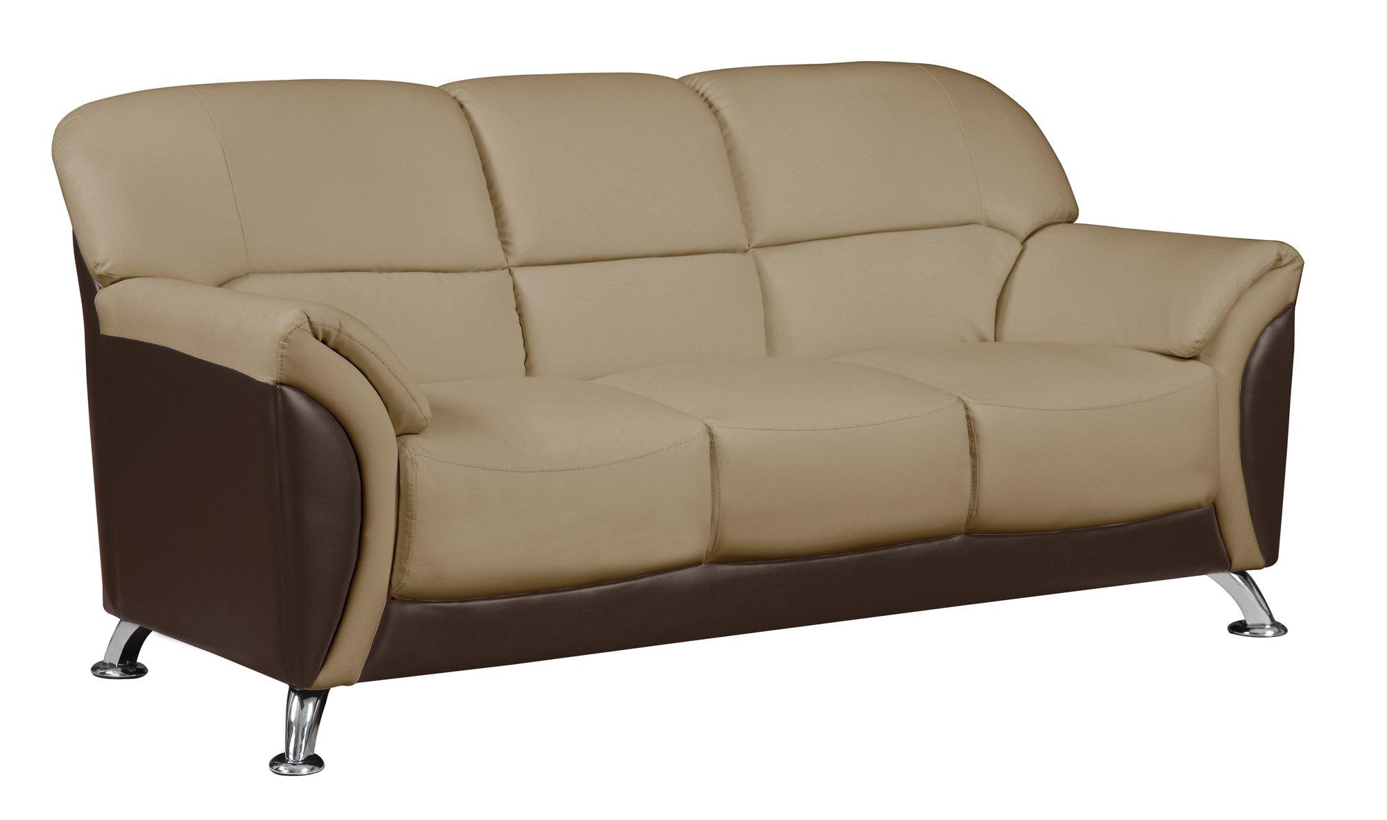 u9103 cappuccino chocolate vinyl sofa by global furniture. Black Bedroom Furniture Sets. Home Design Ideas