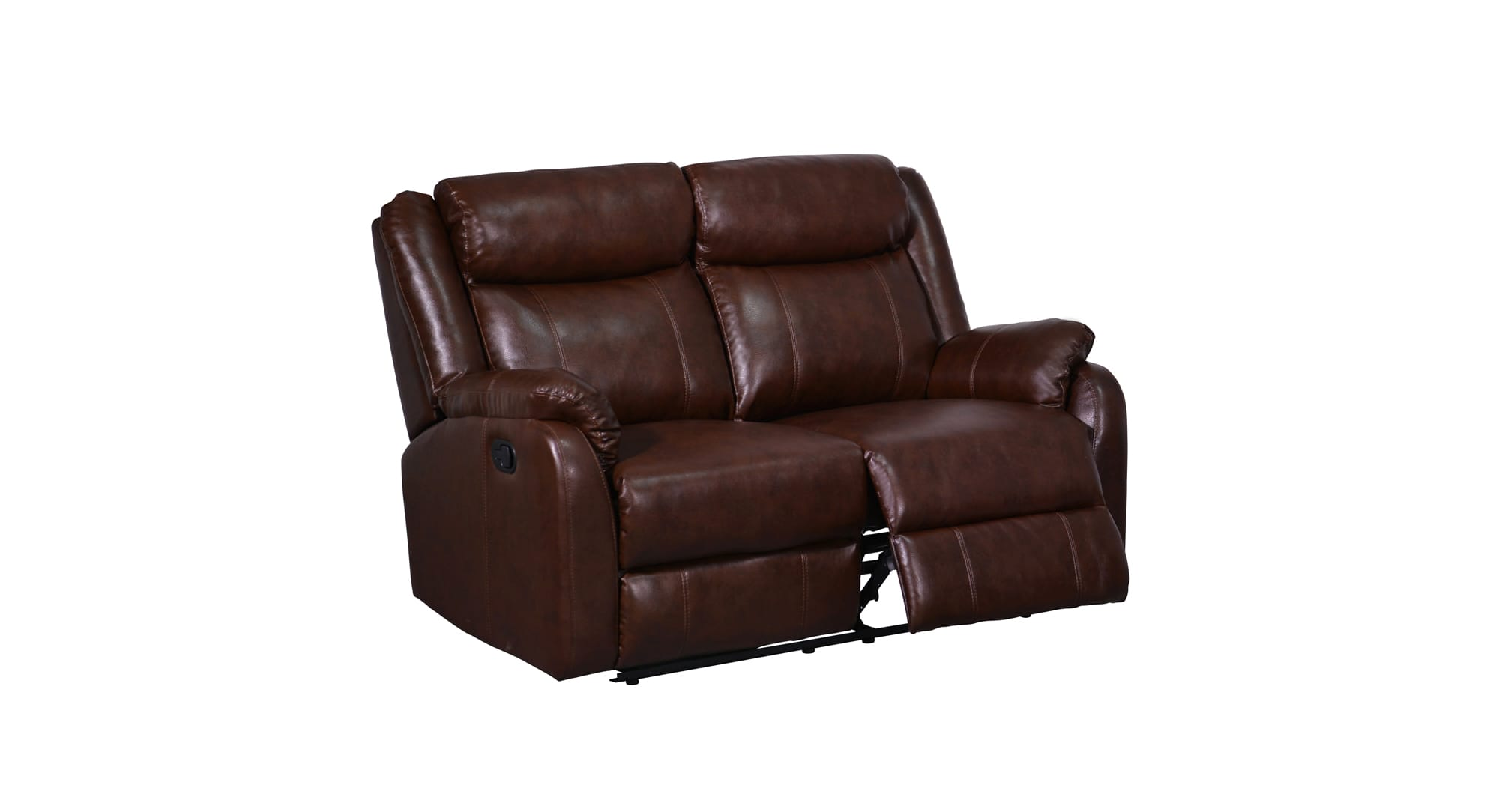 U9303c Brown Bonded Reclining Loveseat By Global Furniture