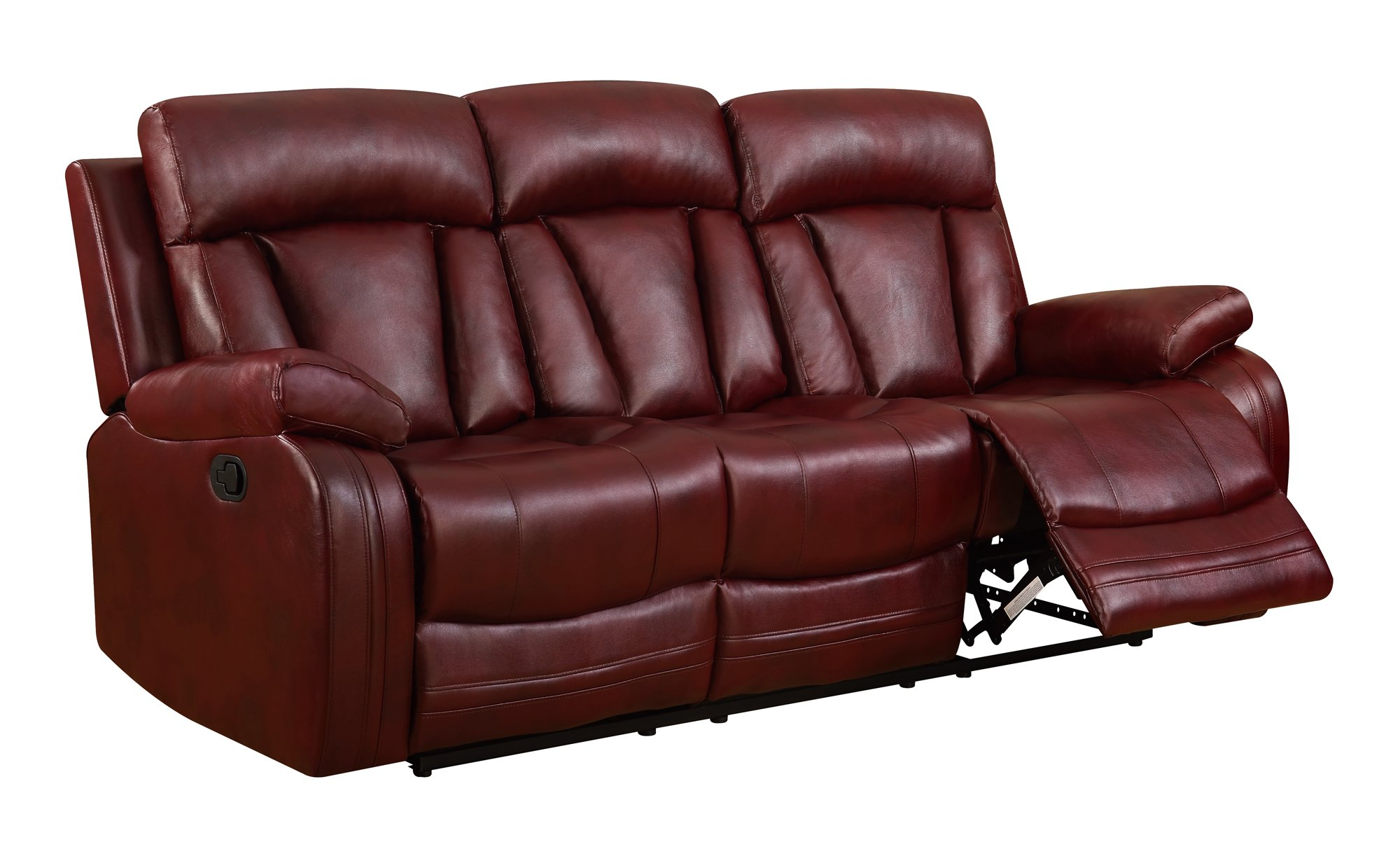u97601 burgundy pu reclining sofa by global furniture. Black Bedroom Furniture Sets. Home Design Ideas