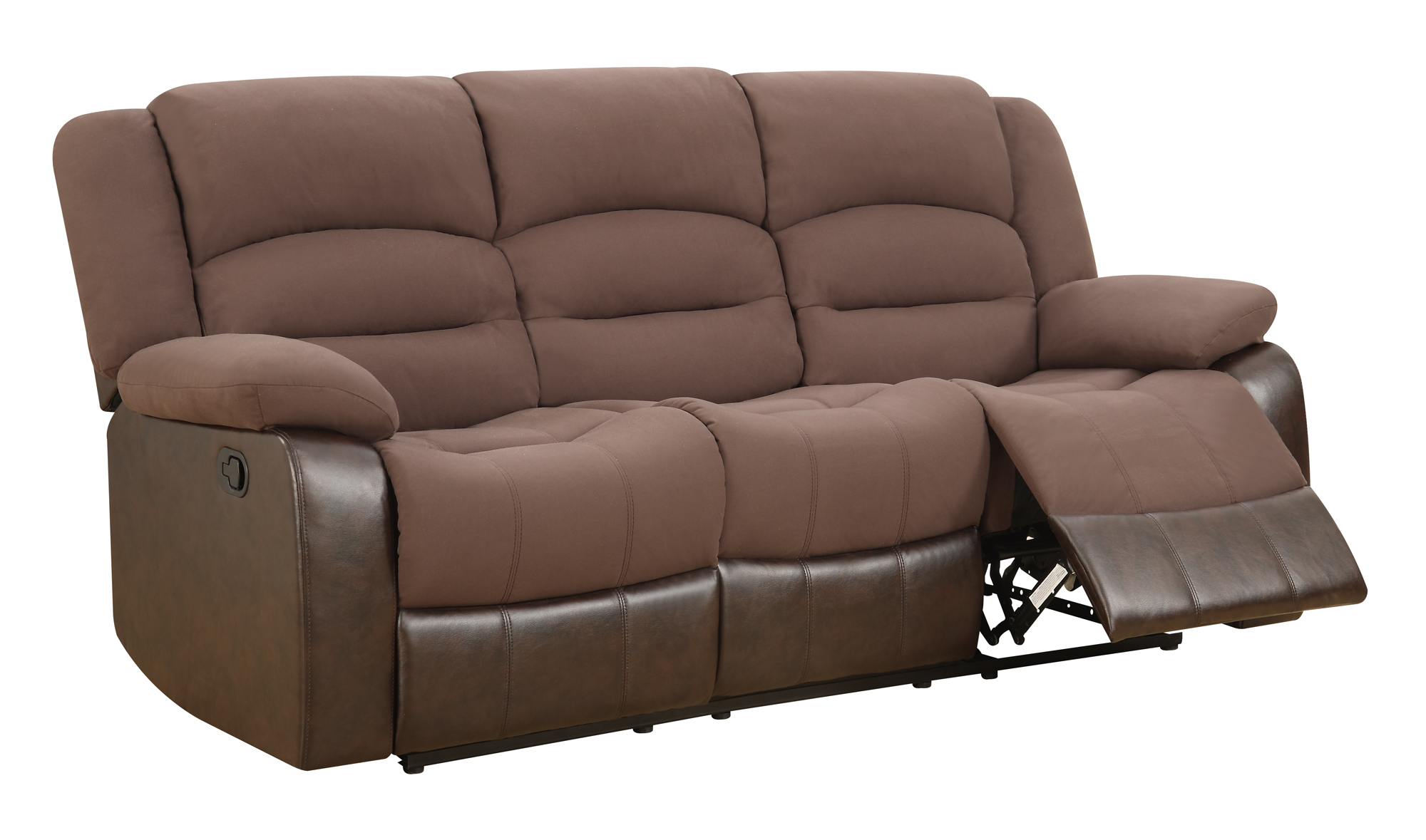 u98243 chocolate pu reclining sofa by global furniture. Black Bedroom Furniture Sets. Home Design Ideas