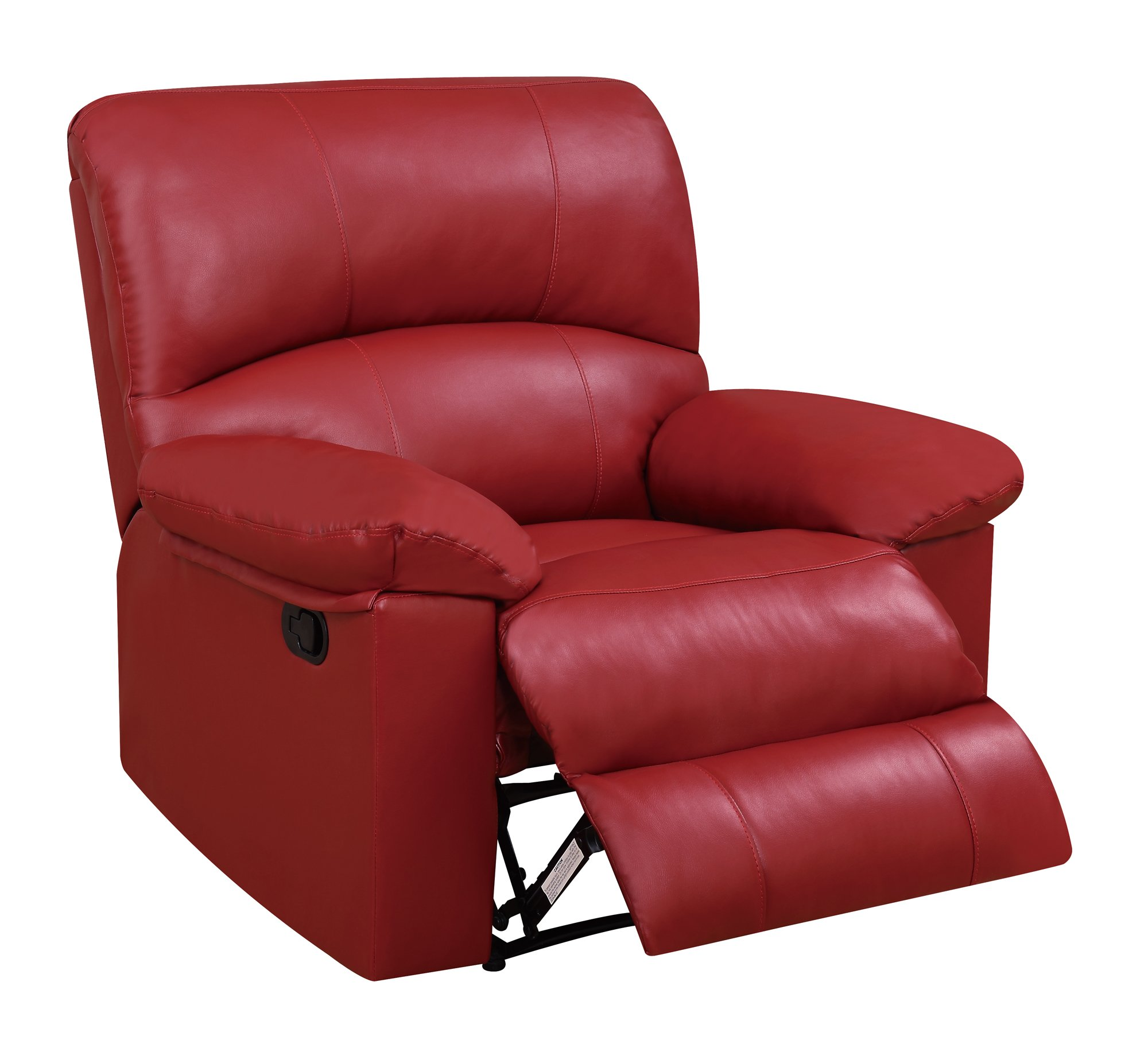 U Red PU Glider Reclining Chair by Global Furniture