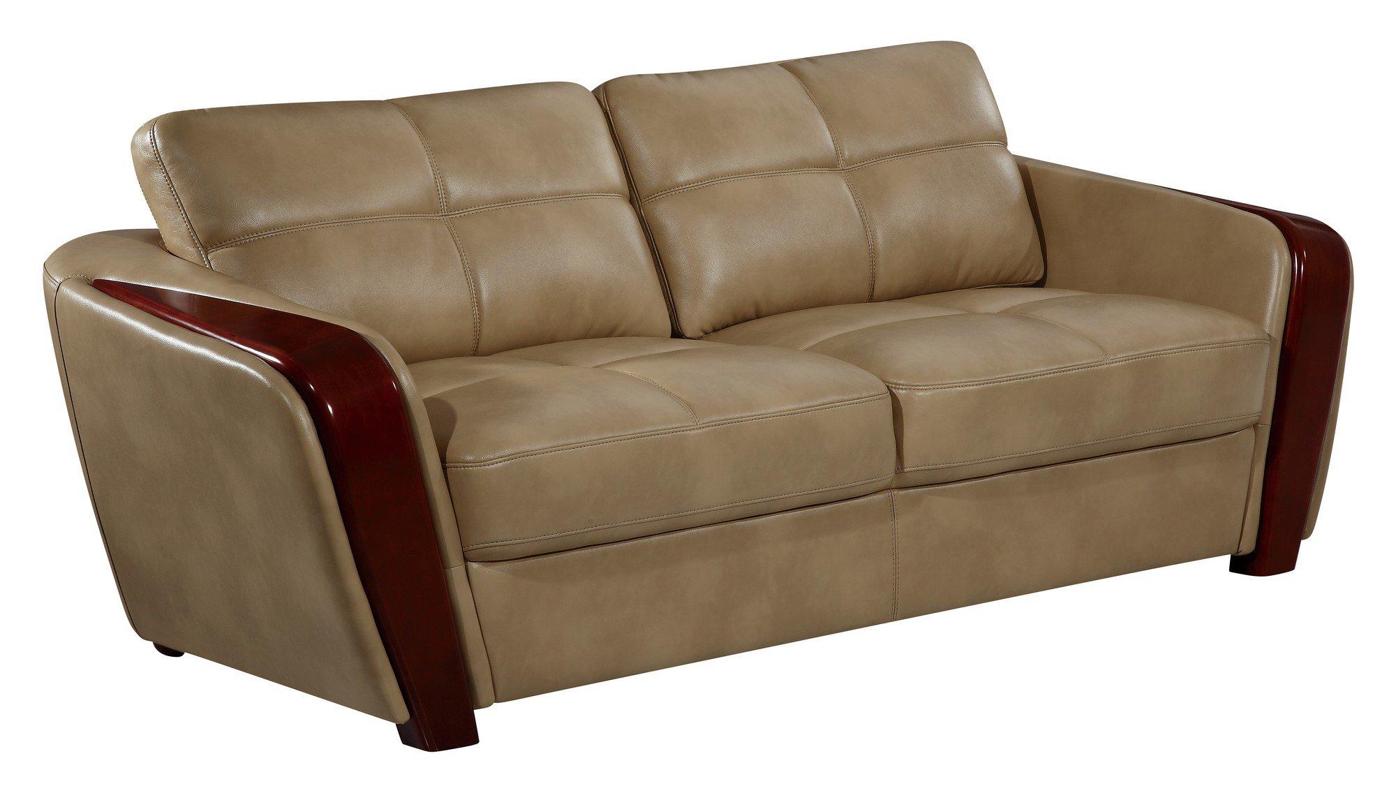 ufm206 ivory leather gel sofa by global furniture. Black Bedroom Furniture Sets. Home Design Ideas