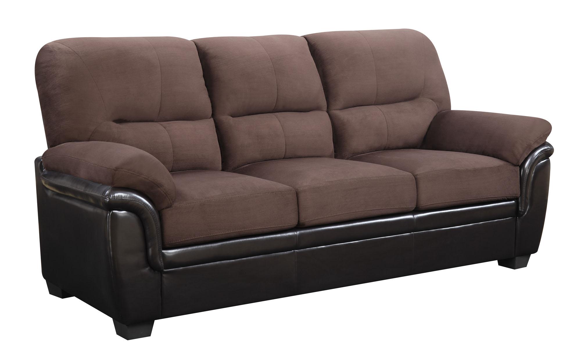 umc3 chocolate brown pu sofa by global furniture. Black Bedroom Furniture Sets. Home Design Ideas