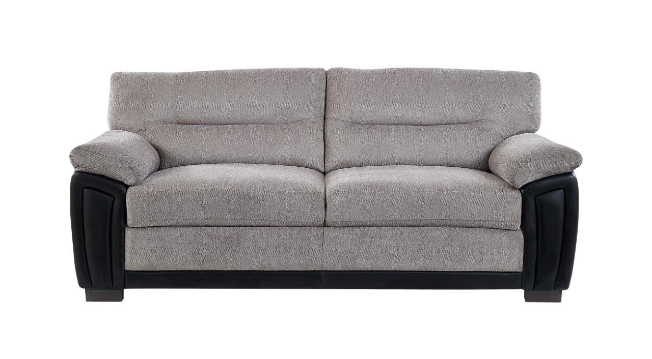 UMC7KD Subaru Oat/Black PVC Fabric Sofa by Global Furniture