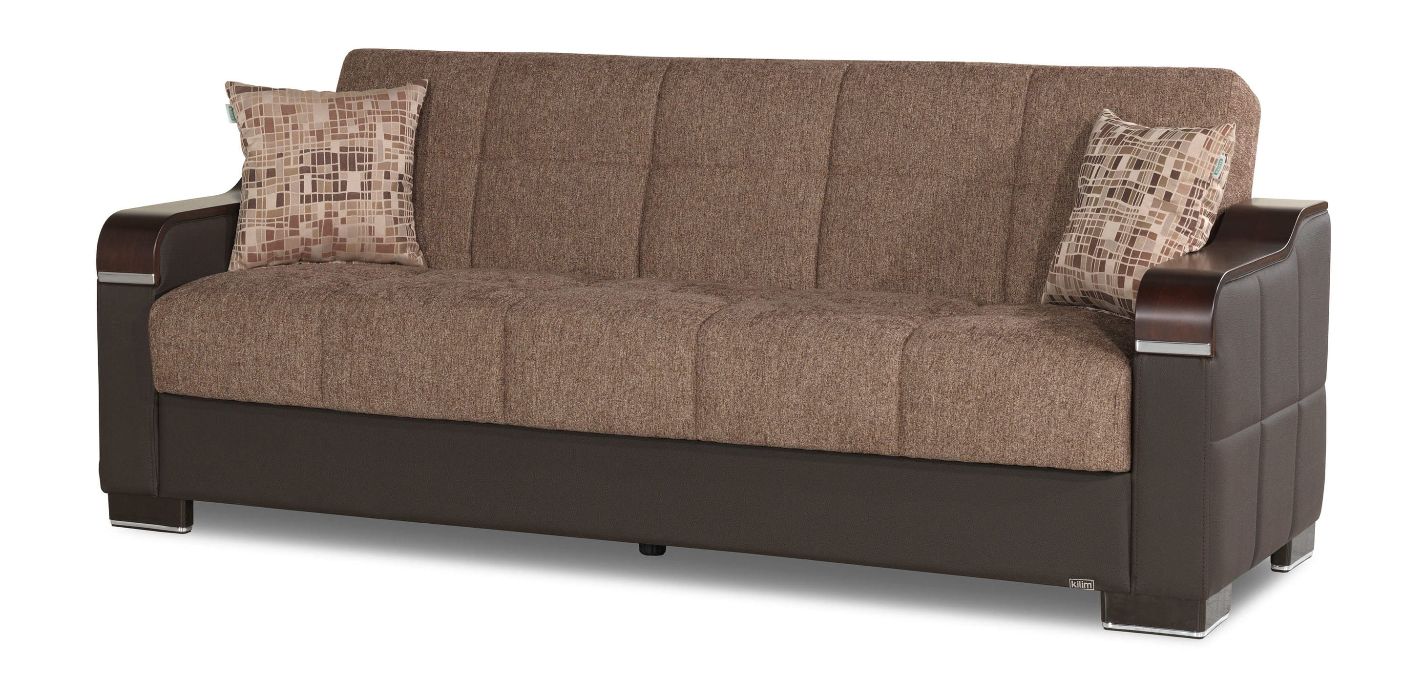 Uptown brown convertible sofa by casamode for Sofa convertible 2 places