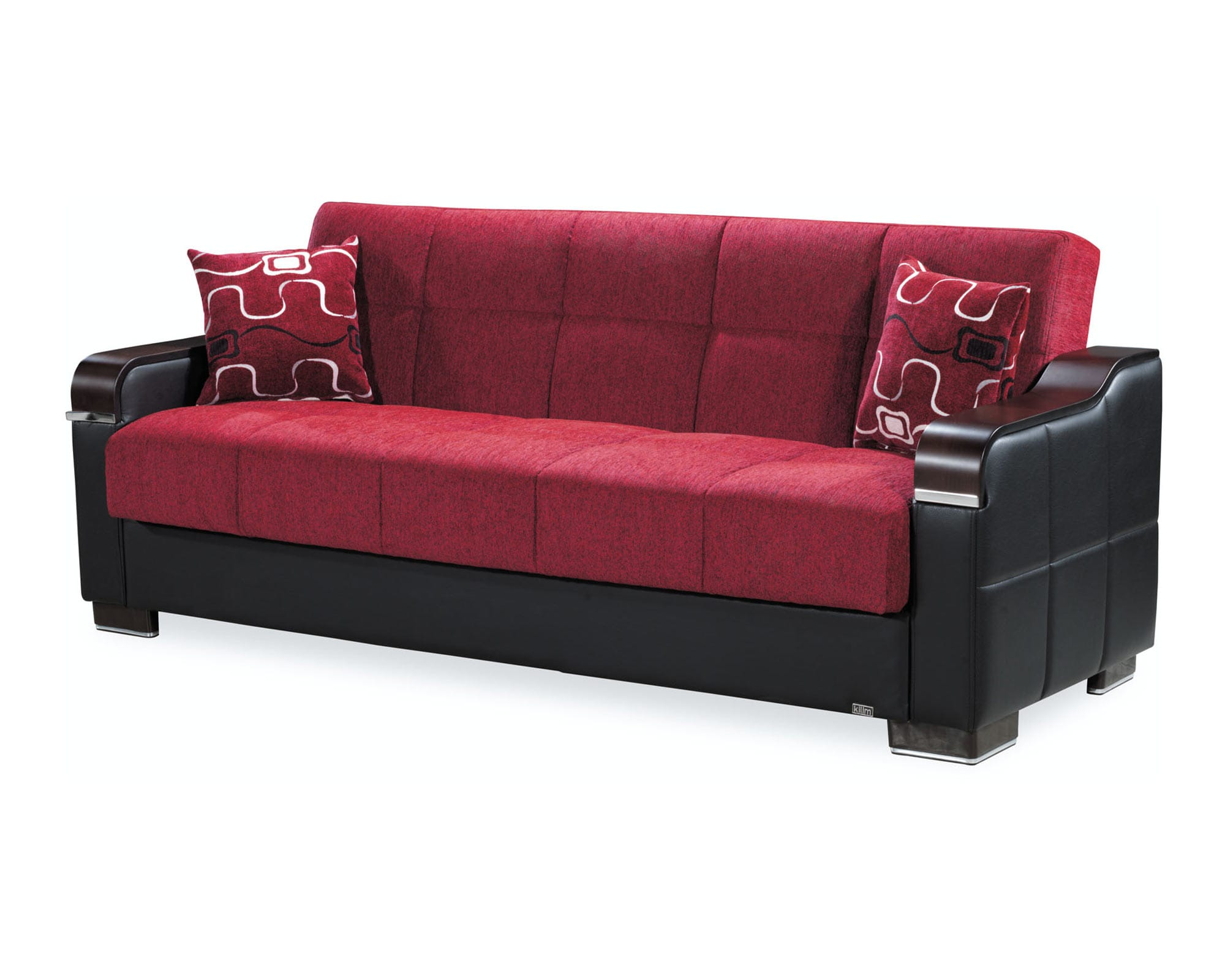 Uptown Red Convertible Sofa by Casamode