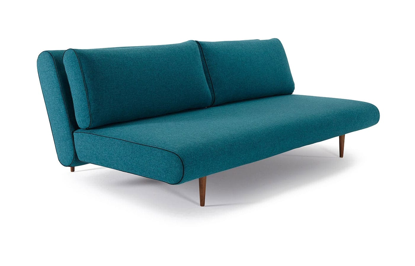 Unfurl Lounger Sofa Bed (Full Size) Mixed Dance Aqua Petrol By Innovation