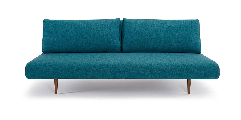 Unfurl Lounger Sofa Bed (Full Size) Mixed Dance Aqua Petrol By Innovation