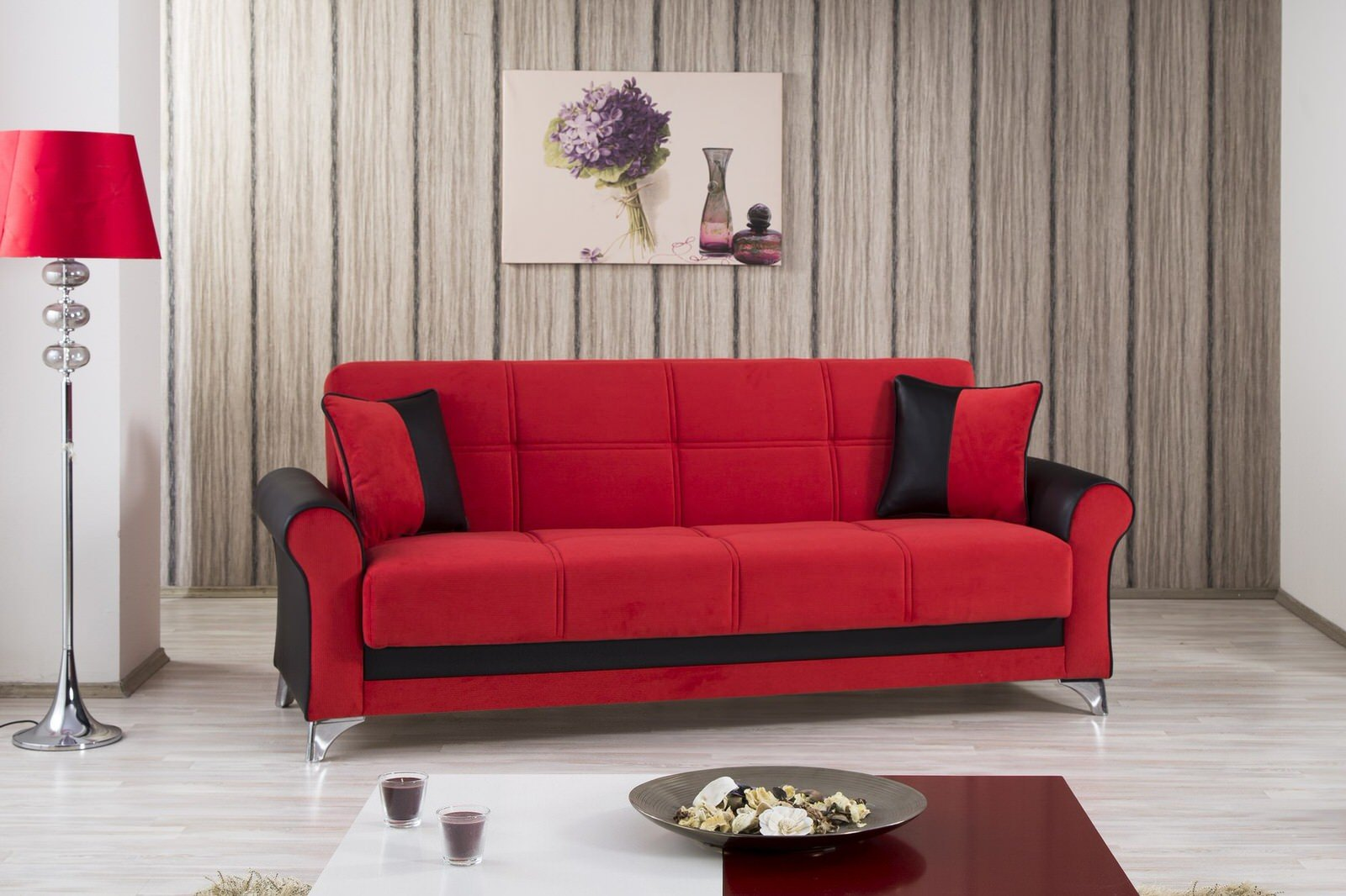 Urban style tuva red convertible sofa bed by casamode for Sofa bed name