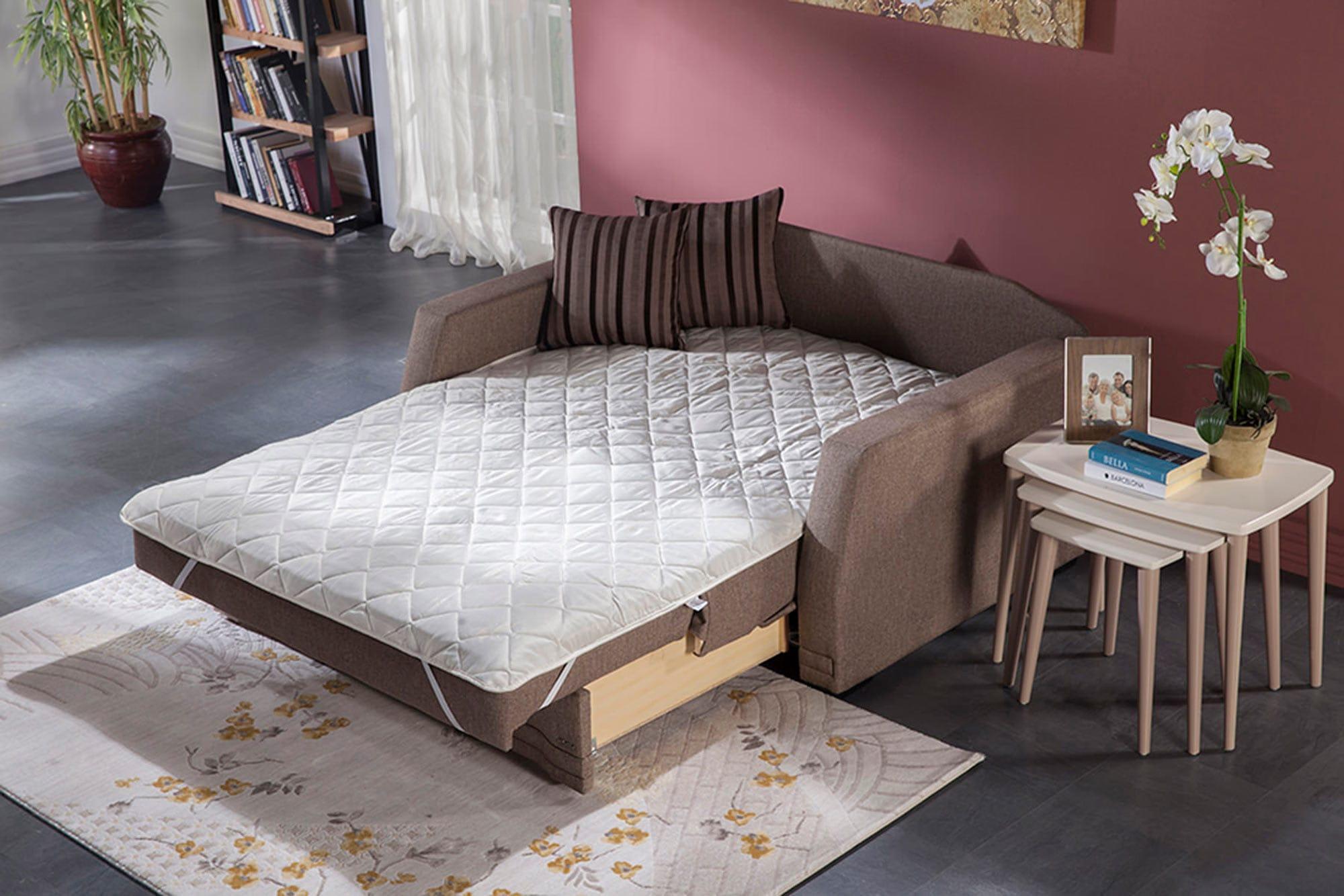Valerie Redeyef Brown Loveseat Sleeper By Istikbal Furniture