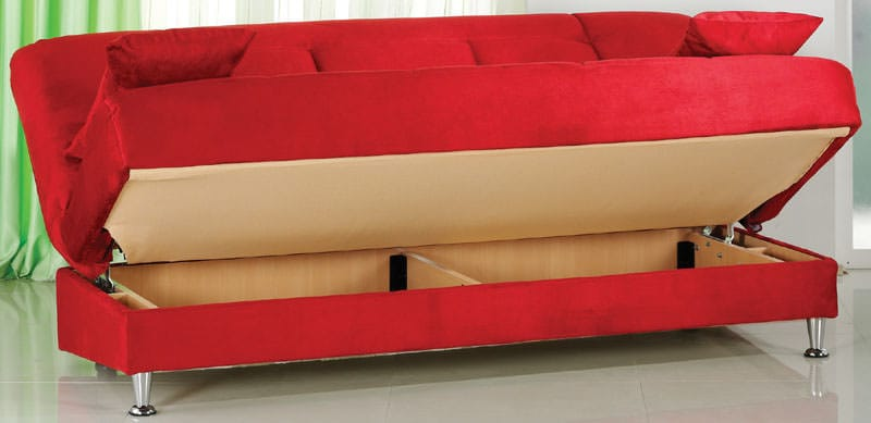 Vegas Rainbow Red Convertible Sofa Bed By Istikbal Sunset