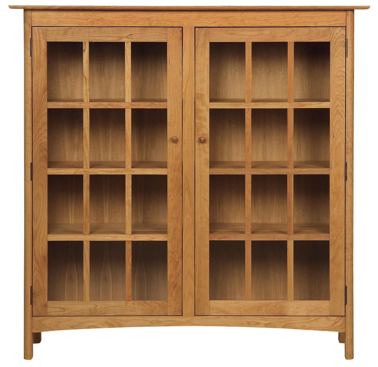 Burlington Wood 2 Door Bookcase W Glass Doors By Vermont Handcrafted Furniture