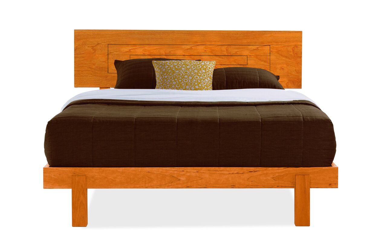 Loft Wood Bed W Low Foot By Vermont Handcrafted Furniture