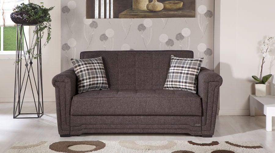 Pleasant Victoria Andre Dark Brown Loveseat Sleeper By Istikbal Furniture Unemploymentrelief Wooden Chair Designs For Living Room Unemploymentrelieforg
