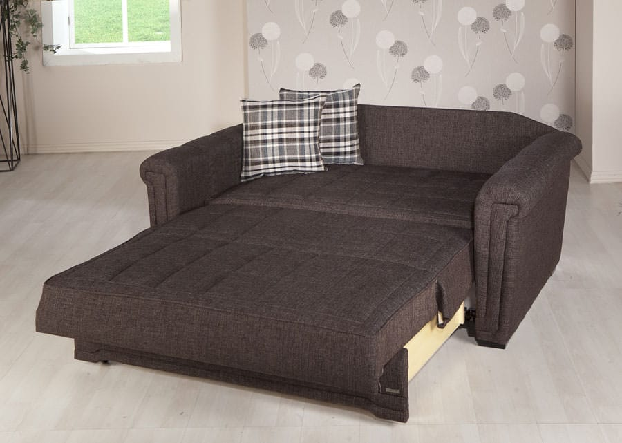Victoria Andre Dark Brown Loveseat Sleeper By Istikbal Sunset