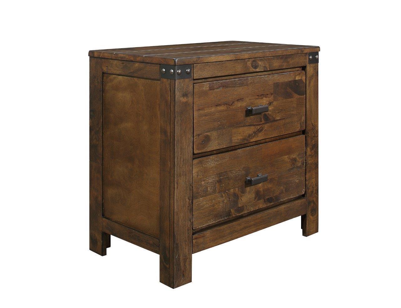 Victoria Rustic Oak Night Stand By Global Furniture