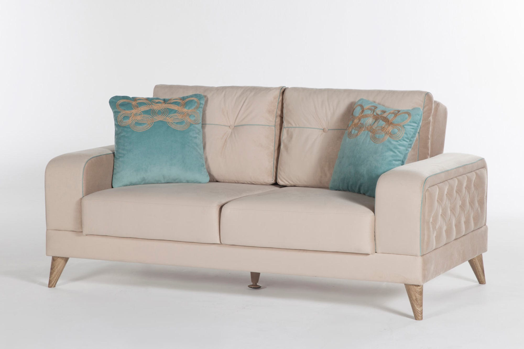 Vienza Lilyum Cream Sofa Love Amp Chair Set By Sunset