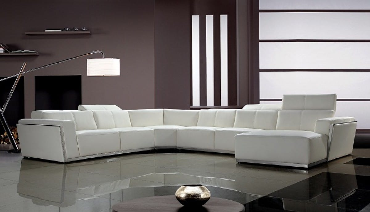 Divani Casa Tempo Contemporary Leather Sectional Sofa By Vig Furniture
