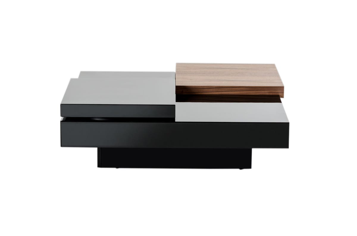 - Modrest Ambry Modern Walnut & Black Coffee Table By VIG Furniture