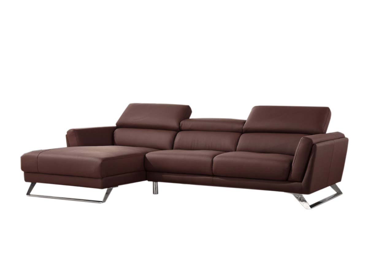 Divani Casa Doss Modern Brown Eco Leather Sectional Sofa By Vig Furniture