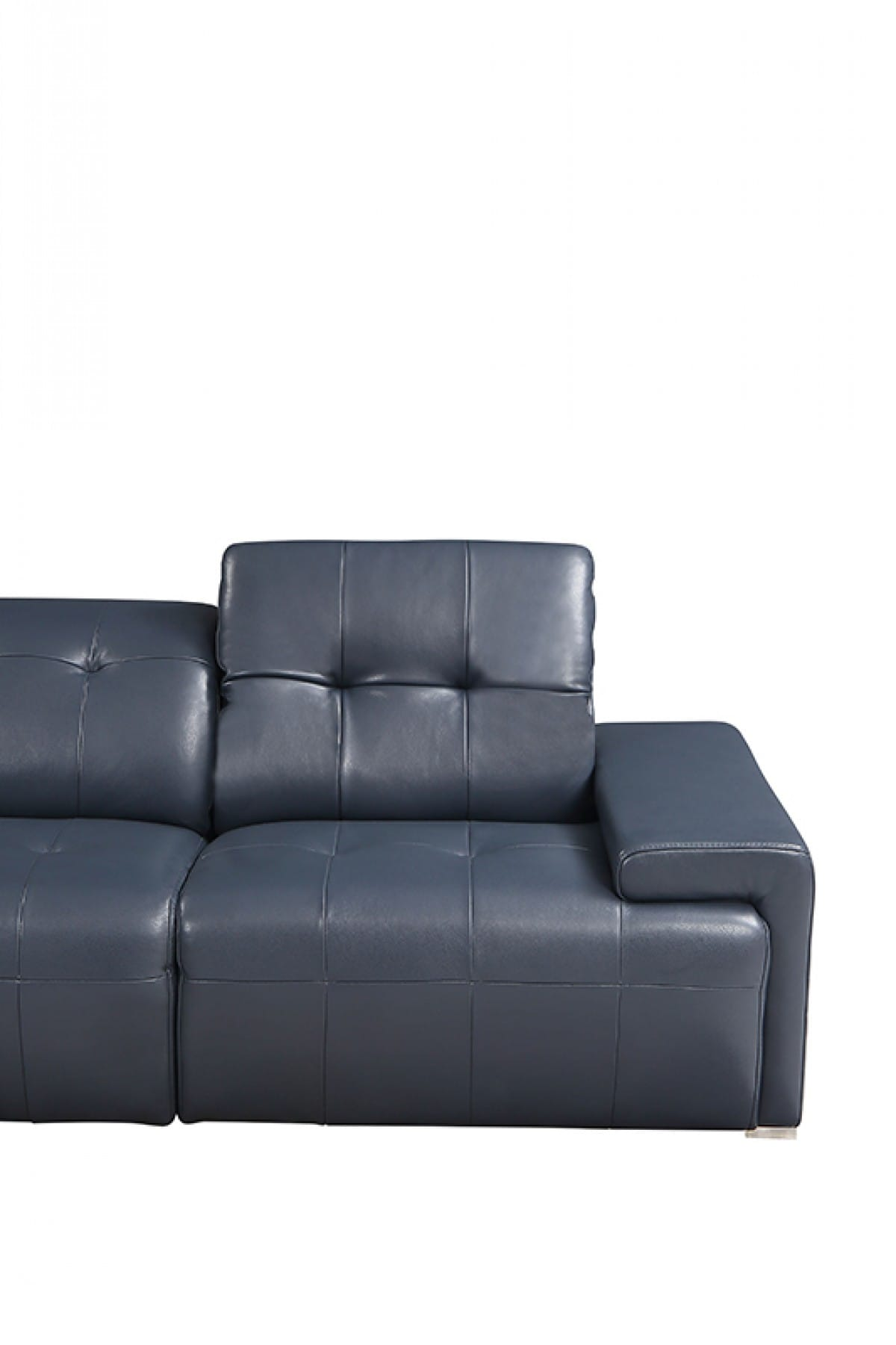 Divani Casa Grafton Modern Blue Leather Sectional Sofa by VIG Furniture