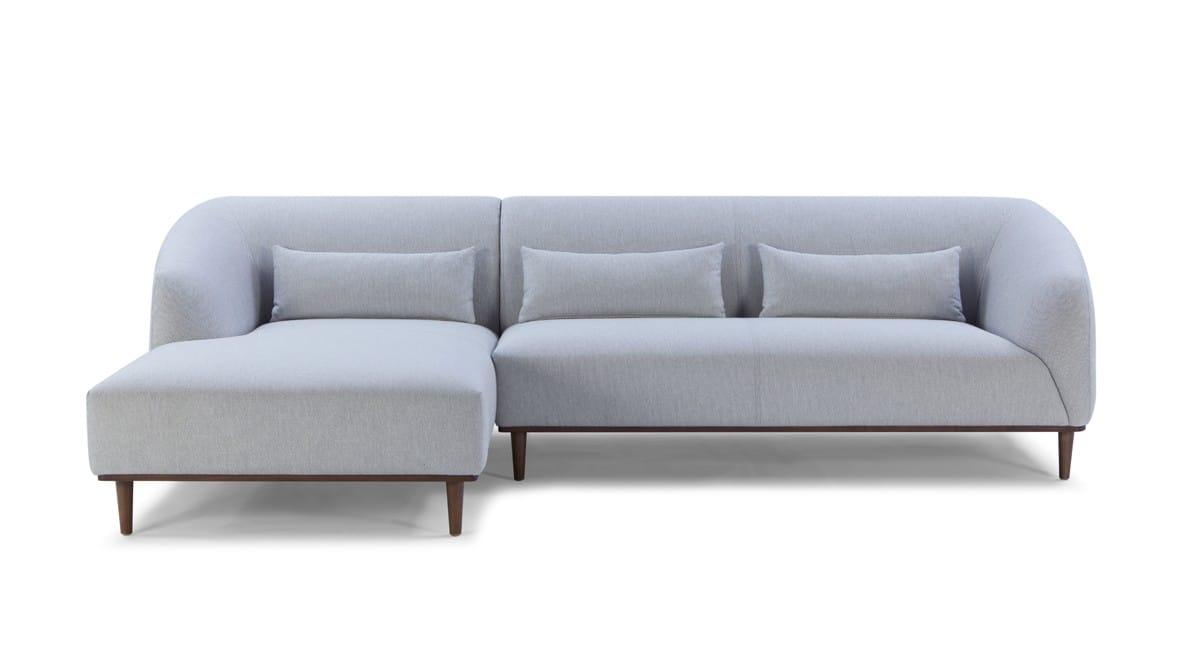 Divani Casa Venus Mid Century Modern Grey Fabric Sectional Sofa W Left Facing Chaise By Vig Furniture