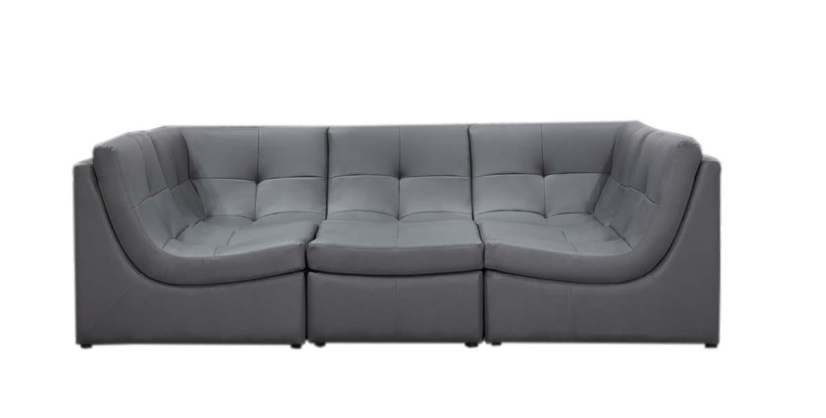 Divani Casa 207 Modern Grey Bonded Leather Sectional Sofa by VIG Furniture